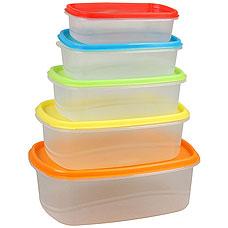 Набор пластиковых контейнеров Rosenberg RPL-575001-5 5штХранение продуктов<br><br>