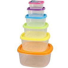 Набор пластиковых контейнеров Rosenberg RPL-575004-6 6штХранение продуктов<br><br>