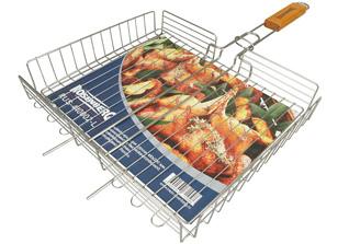 Решётка-гриль для курицы большая Rosenberg RUS-440002-L(8) 41х29 смШашлык, барбекю<br><br>