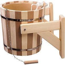 Русский душ на 16 л Банные штучки 32422 Контраст c пластиковой вставкой и наливным клапаномВсе для бани<br><br>