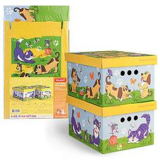 Короб картонный, складной, малый, 25х33х18.5 см, набор 2 шт., Киски&amp;Собачки Valiant KCTN-CD-2SТовары для гардероба<br><br>