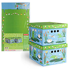 Короб картонный, складной, малый, 25х33х18.5 см, набор 2 шт., Утята&amp;Лягушата Valiant KCTN-DF-2SТовары для гардероба<br><br>