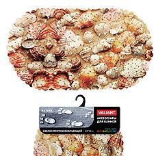 Коврик для ванны, противоскользящий, 69х39 см, Sea Shells Valiant N6939P-SSТовары для ванной комнаты<br><br>