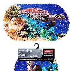 Коврик для ванны, противоскользящий, 69х39 см, Sea World Valiant N6939P-SWТовары для ванной комнаты<br><br>