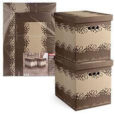 Короб картонный, складной, большой, 28х38х31.5 см, набор 2 шт., Classic Valiant CL-BCTN-2MТовары для гардероба<br><br>