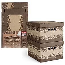 Короб картонный, складной, малый, 25х33х18.5 см, набор 2 шт., Classic Valiant CL-BCTN-2SТовары для гардероба<br><br>