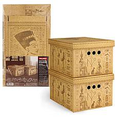 Короб картонный, складной, малый, 25х33х18.5 см, набор 2 шт., Egypt Valiant EG-BCTN-2SТовары для гардероба<br><br>