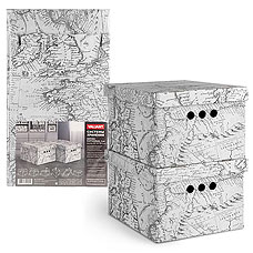 Короб картонный, складной, малый, 25х33х18.5 см, набор 2 шт., Expedition Valiant EX-BCTN-2SТовары для гардероба<br><br>