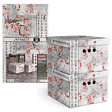 Короб картонный, складной, малый, 25х33х18.5 см, набор 2 шт., Japanese White Valiant JW-BCTN-2SТовары для гардероба<br><br>