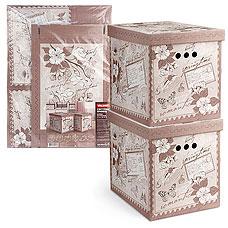 Короб картонный, складной, большой, 28х38х31.5 см, набор 2 шт., Romantic Valiant RM-BCTN-2MТовары для гардероба<br><br>