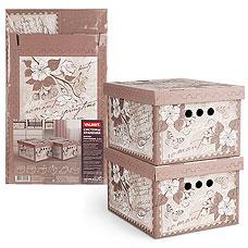 Короб картонный, складной, малый, 25х33х18.5 см, набор 2 шт., Romantic Valiant RM-BCTN-2SТовары для гардероба<br><br>