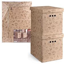 Короб картонный, складной, большой, 28х38х31.5 см, набор 2 шт., Travelling Valiant TR-BCTN-2MТовары для гардероба<br><br>