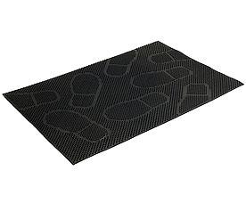 Коврик придверный Vortex 22462 40x60 см, черный, СледыВсе для бани<br><br>