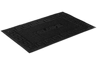 Коврик придверный Vortex 22464 40x60 см, черный, WelcomeВсе для бани<br><br>