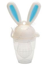 Ниблер силиконовый Зайчик голубой Bradex DE 0158 для прикормадля самых маленьких<br><br>