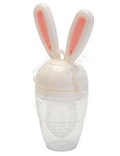 Ниблер силиконовый Зайчик розовый Bradex DE 0159 для прикормадля самых маленьких<br><br>