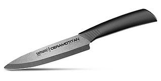 Нож кухонный Samura Ceramotitan универсальный 125 мм SCT-0021МНожи<br><br>