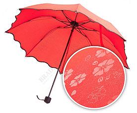 Зонт с проявляющимся рисунком, красный Bradex SU 0033Зонты<br><br>