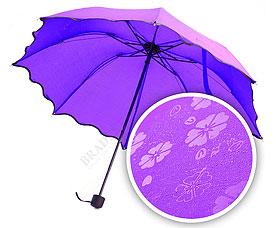 Зонт с проявляющимся рисунком, фиолетовый Bradex SU 0034Зонты<br><br>