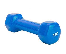 Гантель обрезиненная 2 кг, синяя Bradex SF 0162Товары для фитнеса<br><br>
