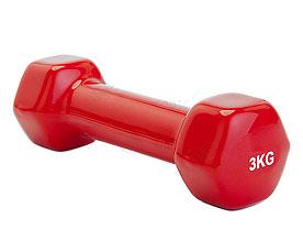 Гантель обрезиненная 3 кг, красная Bradex SF 0163Товары для фитнеса<br><br>