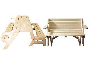 Скамья-стол раскладная 120x80x40 см Банные штучки 32475Все для бани<br><br>
