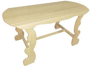 Стол с фигурными ножками 120x63x73см Банные штучки 32441Все для бани<br><br>