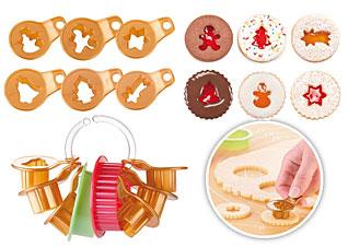 Формочки для рождественского печенья с начинкой Delicia, 8 шт. Tescoma 630912Выпечка<br><br>