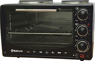 Настольная духовка с таймером Sakura SA-7016HBKМелкобытовая техника<br><br>