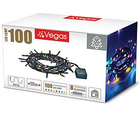 Электрогирлянда Нить 10м, 100 разноцветных LED ламп Vegas 55061Гирлянды<br><br>