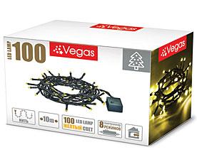 Электрогирлянда Нить 10м, 100 желтых LED ламп Vegas 55064Гирлянды<br><br>