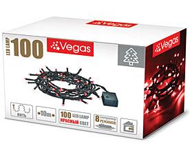 Электрогирлянда Нить 10м, 100 красных LED ламп Vegas 55065Гирлянды<br><br>