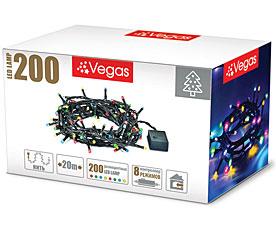 Электрогирлянда Нить 20м, 200 разноцветных LED ламп Vegas 55067Гирлянды<br><br>