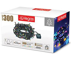 Электрогирлянда Нить 23м, 300 разноцветных LED ламп Vegas 55070Гирлянды<br><br>