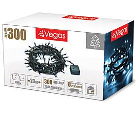 Электрогирлянда Нить 23м, 300 холодных LED ламп Vegas 55072Гирлянды<br><br>