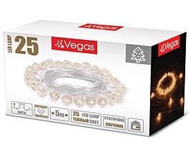Электрогирлянда Бриллианты 5м, 25 теплых LED ламп Vegas 55083Гирлянды<br><br>