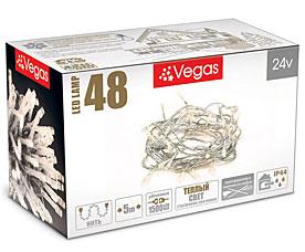 Электрогирлянда Нить 5м, 48 теплых LED ламп Vegas 55000Гирлянды<br><br>