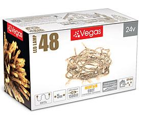Электрогирлянда Нить 5м, 48 желтых LED ламп Vegas 55004Гирлянды<br><br>
