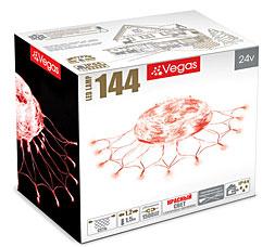 Электрогирлянда Сеть 1,2x1,5м, 144 красных LED ламп Vegas 55033Гирлянды<br><br>