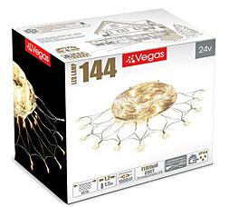 Электрогирлянда Сеть 1,2x1,5м, 144 теплых LED ламп Vegas 55035Гирлянды<br><br>