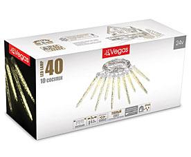 Электрогирлянда Сосульки 2м, 10 шт (30 см,20 см), 40 теплых LED ламп Vegas 55036Гирлянды<br><br>