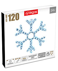 Фигура светодиодная Снежинка 120 холодных LED ламп, 0,29 м, D 56 см Vegas 55038Гирлянды<br><br>