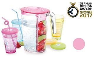 Кувшин myDRINK 2.5 л. 4 стакана с крышками, розовый Tescoma 308802.19Напитки<br><br>