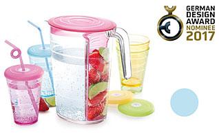 Кувшин myDRINK 2.5 л. 4 стакана с крышками, голубой Tescoma 308802.30Напитки<br><br>