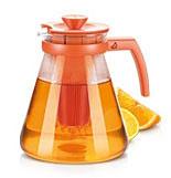 Чайник TEO TONE 1.7л, с ситечками для заваривания, оранжевый Tescoma 646625.17Напитки<br><br>