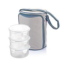 Термосумка FRESHBOX, с 3 контейнерами 0.8л, серый Tescoma 892213.43Хранение и упаковка продуктов<br><br>