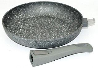 Сковорода для жарки Rock Stone 26 x 5.2 см со съемной ручкой Fissman 4364Сковороды<br><br>