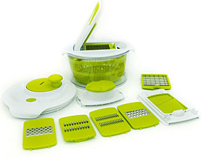 Набор для приготовления салата с 7 сменными лезвиями 24 х 17 см Fissman 8660Кухонные аксессуары<br><br>