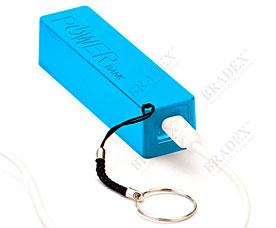 Аккумулятор портативный Брелок, голубой Bradex SU 0037Электроника<br><br>