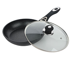Сковорода Bekker BK-3770 30см с мраморным покрытием с крышкойСковороды антипригарные<br><br>